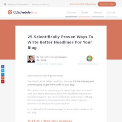 Write Better Headlines For Your Blog