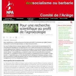 Pour une recherche scientifique au profit de l'agroécologie