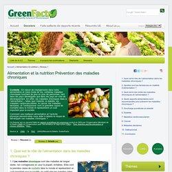 Consensus Scientifique sur l'Alimentation et la nutrition Prévention des maladies chroniques