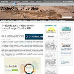 Academia.edu : le réseau social scientifique préféré des SHS