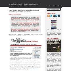 Aaron Swartz, le suicidé de l'édition scientifique commerciale [Updated 13 janv. 2013]
