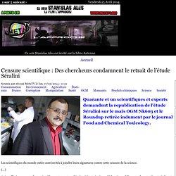 Censure scientifique : Des chercheurs condamnent le retrait de l'étude Séralini