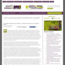 Une presse scientifique sous influence : l'exemple de l'étude sur le maïs OGM NK603
