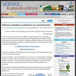 Médecine scientifique et médecines non conventionnelles