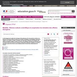 Mobilité - Réseau culturel, scientifique et coopération du ministère des affaires étrangères