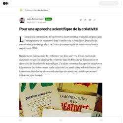 Pour une approche scientifique de la créativité