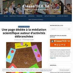 Une page dédiée à la médiation scientifique autour d'activités débranchées