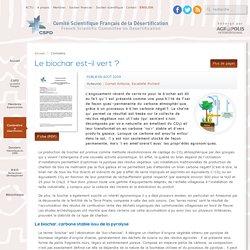 Le biochar est-il vert ? - CSFD - Comité Scientifique Français de la Désertification