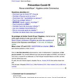 Covid-19 prevention virus hygiène scientifique destruction coronavirus science covid19