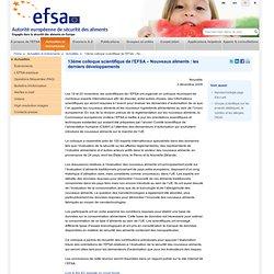 13ème colloque scientifique de l'EFSA – Nouveaux aliments : les derniers développements