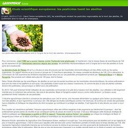 GREENPEACE SUISSE 13/04/15 Etude scientifique européenne - Les pesticides tuent les abeilles