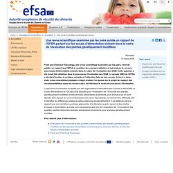 EFSA 10/03/08 EFSA Report on animal feeding trials in GM plant evaluation published in peer-reviewed scientific journal