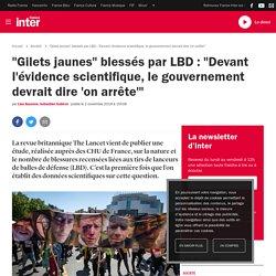 """""""Gilets jaunes"""" blessés par LBD : """"Devant l'évidence scientifique, le gouvernement devrait dire 'on arrête'"""""""