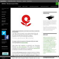 Le blogging scientifique sur hypotheses.org
