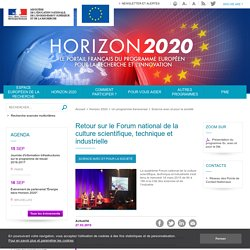 Retour sur le Forum national de la culture scientifique, technique et industrielle