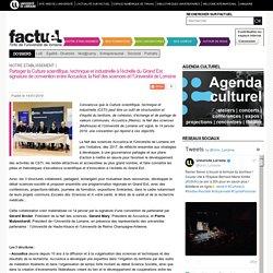 Partager la Culture scientifique, technique et industrielle à l'échelle du Grand Est : signature de convention entre Accustica, la Nef des sciences et l'Université de Lorraine