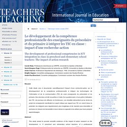 Formation et profession : revue scientifique internationale en éducation 2