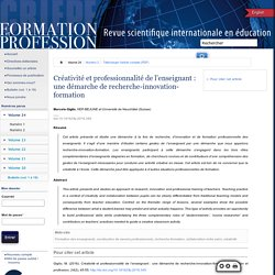 Formation et profession : revue scientifique internationale en éducation 349