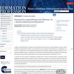 Formation et profession : revue scientifique internationale en éducation 248