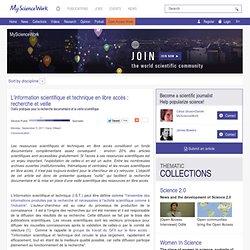 L'IST en libre accès : recherche et veille