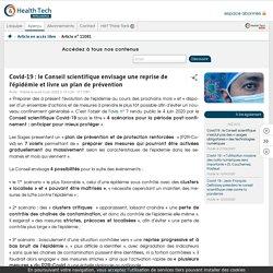Article Health tech _ Covid-19: le Conseil scientifique envisage une reprise de l'épidémie et livre un plan de prévention