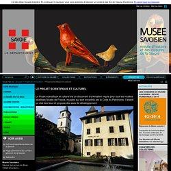 Projet scientifique et culturel - Musée savoisien