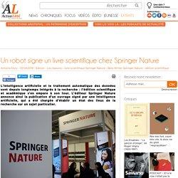 Un robot signe un livre scientifique chez Springer Nature
