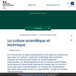 La culture scientifique et technique - Ministère de la Culture