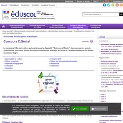 Culture scientifique et technologique - Concours C.Génial