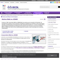 Culture scientifique et technologique - Ateliers Math.en.JEANS