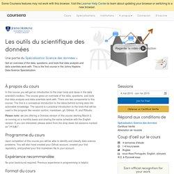 Les outils du scientifique des données - Université Johns-Hopkins