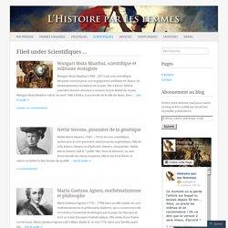 Scientifiques - Histoire par lfemmes