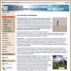 Données scientifiques - Les changements climatiques