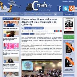 Pilotes, scientifiques et docteurs dénoncent les «chemtrails» en Californie