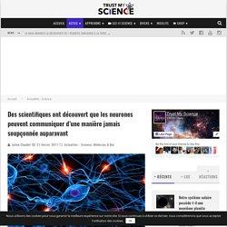 Des scientifiques ont découvert que les neurones peuvent communiquer d'une manière jamais soupçonnée auparavant