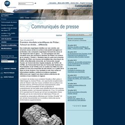Premiers résultats scientifiques de Philae: Tchouri se révèle… différente