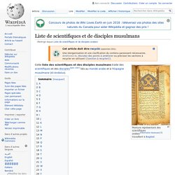 Liste de scientifiques et de disciples arabes