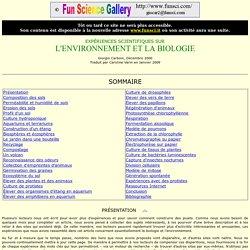 Expériences Scientifiques sur l'Environnement et la Biologie