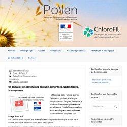 Un annuaire de 350 chaînes YouTube, culturelles, scientifiques, francophones.
