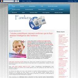 7 études scientifiques viennent confirmer que le fluor abaisse l'intelligence dès l'enfance