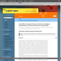 JournalBase. Comparer les bases de données scientifiques internationales en sciences humaines et sociales (SHS)