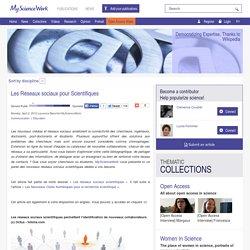 Les Réseaux sociaux pour Scientifiques - MyScienceNews