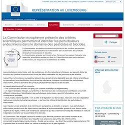 La Commission européenne présente des critères scientifiques permettant d'identifier les perturbateurs endocriniens dans le domaine des pesticides et biocides.