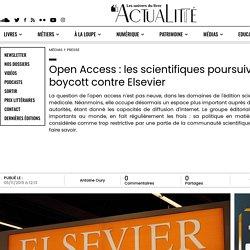 Open Access : les scientifiques poursuivent le boycott contre Elsevier