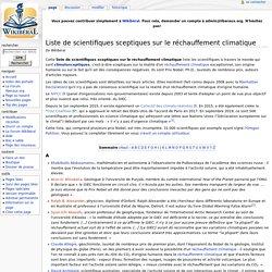 Liste de scientifiques sceptiques sur le réchauffement climatique — Wikiberal