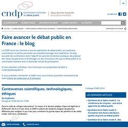 DEBATPUBLIC_FR 13/06/14 Controverses scientifiques, technologiques, éthiques