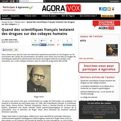 Quand des scientifiques français testaient des drogues sur des cobayes humains