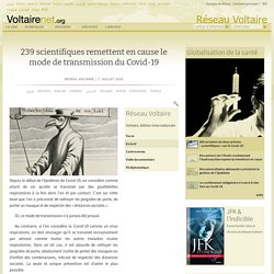 239 scientifiques remettent en cause le mode de transmission du Covid-19