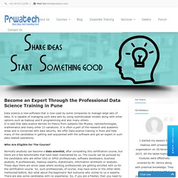 Data scientist online certification