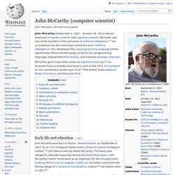 John McCarthy (computer scientist)